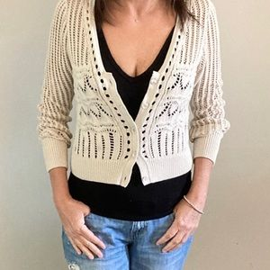 NWT- Lucky Brand cropped summer sweater